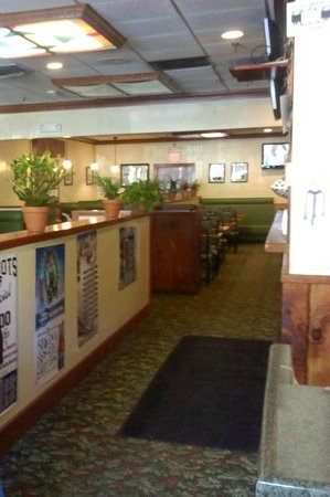 Our Town Pizzeria: large area for gatherings, many booths and TV's to watch