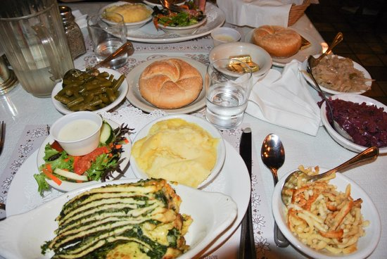 Edelweiss Restaurant: OUR FEAST! Seriously, all this for 2 people.