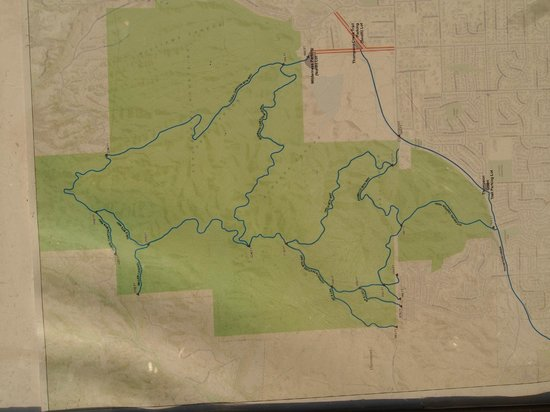 Claremont Hills Wilderness Park: Map of the trail