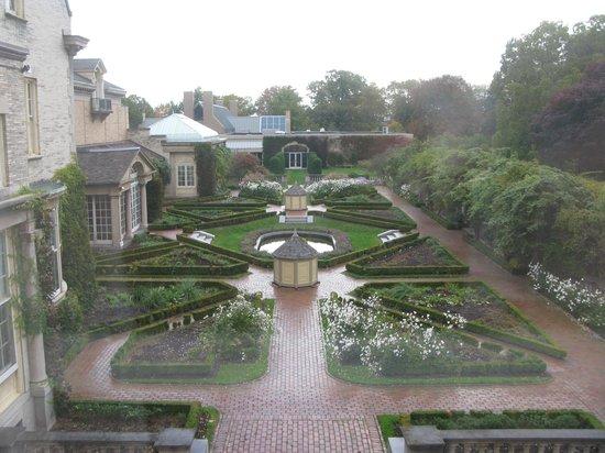 George Eastman Museum: Garden view from Eastman's mother's room window