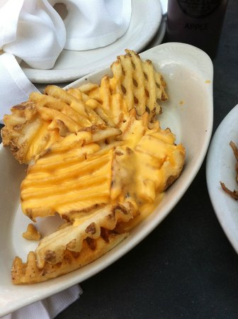 Slows Bar BQ: Waffle Cheesy fries, awesome!!