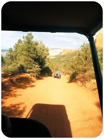Red Rock Jeep Tours: View from Behind