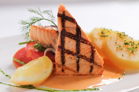 Bistro & Catering by Two Chefs: Grilled salmon