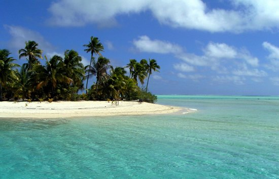 Aitutaki, Cook Adaları: One Foot Island