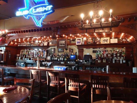 BT Longhorn Saloon & Steakhouse : Amazing antique bar - show piece for the restaurant