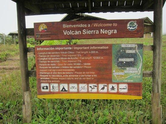 Sierra Negra sign