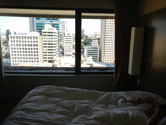 Hilton Brisbane: day view from bed