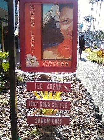 Kope Lani Heavenly Coffee & Ice Cream : sign