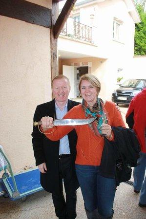 Jean-Marie Gobillard & Fils: Lana with tour guide Cris (cris-event)