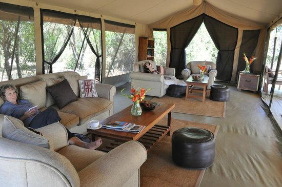 Encounter Mara Safari Camp by Asilia Africa: Tented Safari Lounge at Encounter Mara Safari Tented Camp