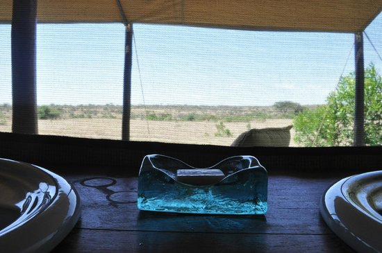 Encounter Mara Safari Camp by Asilia Africa: View from Twin Room bathroom
