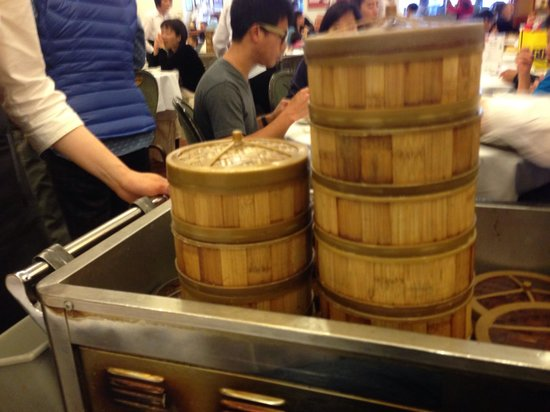 Dim Sum Cart Arriving At The Table