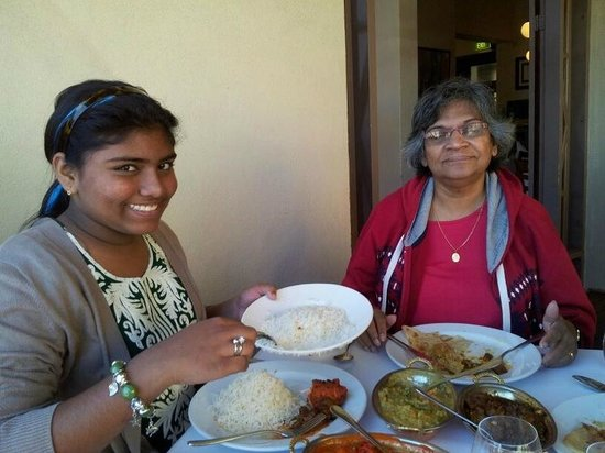 Shanker's Authentic Indian Cuisine : Tania, enjoying the lunch.