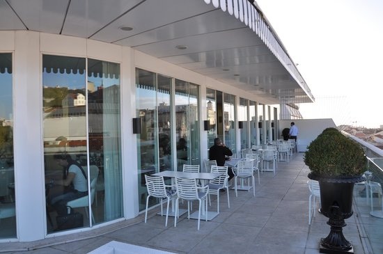 Altis Avenida Hotel: terras ontbijtruimte / restaurant