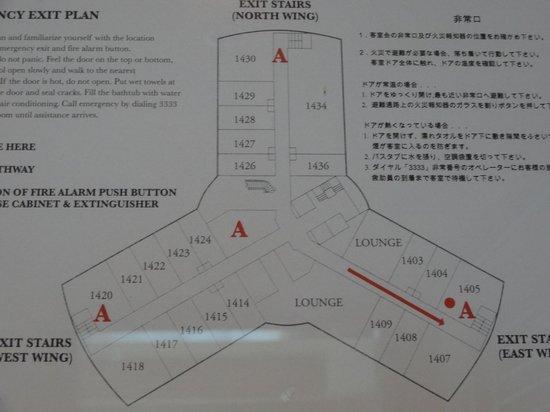 AYANA Midplaza JAKARTA : 14階フロアプラン