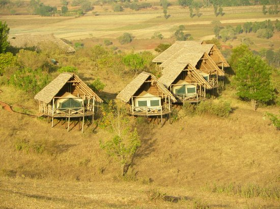 Rhotia Valley Tented Lodge: view from the children's home to the lodge