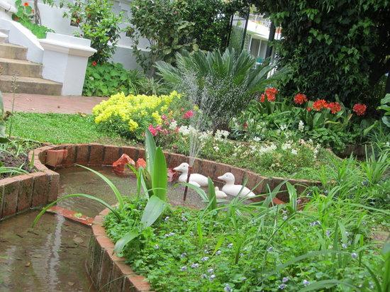 Caledon Villa: Garden-Fountain