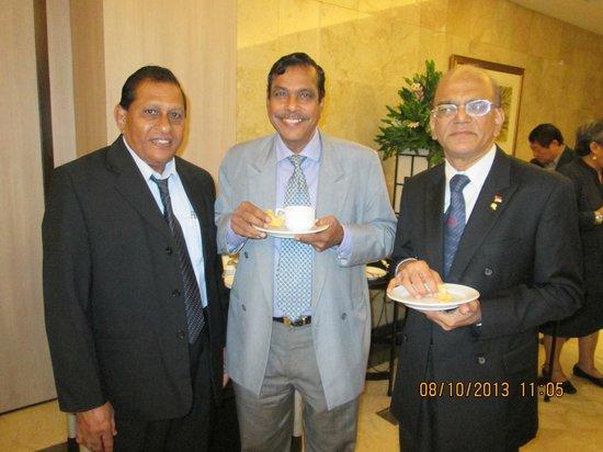 Hotel Borobudur Jakarta: with delgates from Malaysia & Singapore