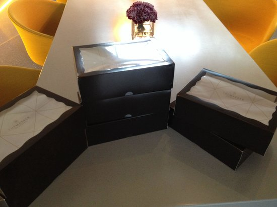 The Marker Hotel: Cronuts sitting patiently in their boxes