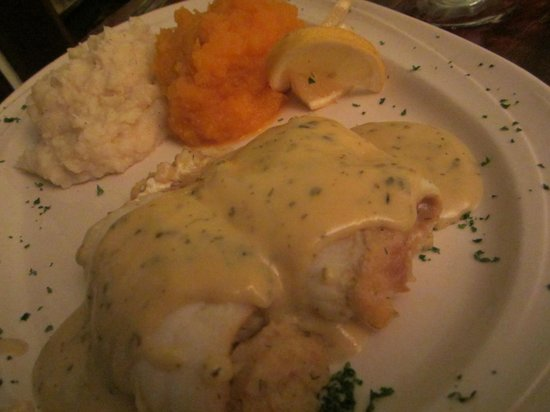 S.S. Milton: Sole stuffed with scallops