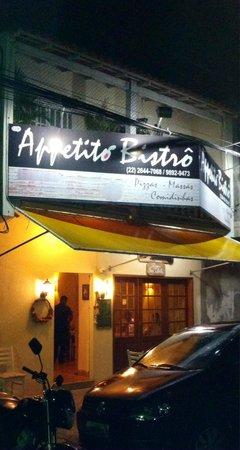 Fachada / Entrada do Aappetito Bistro