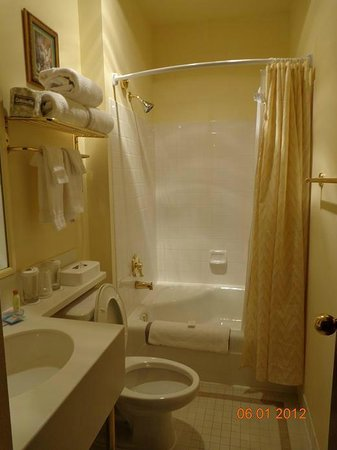 BEST WESTERN PLUS Pioneer Square Hotel: small bathroom but clean and all in perfect condition.