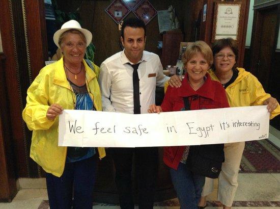 City View Hotel: Nos sentimos muy seguras y el trato de los egipcios es el mas amable que conoci
