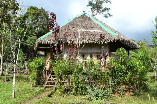 Ecolodge Chez Arol: The dining area
