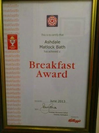 Ashdale Guest House: Breakfast Award