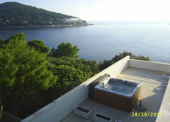 Ariston Hotel : View from  balcony showing 1229 hottub