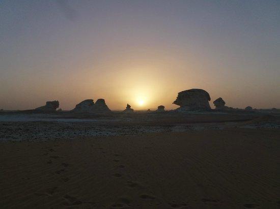 Bahariya (Bahereya) Oasis : Puesta del sol