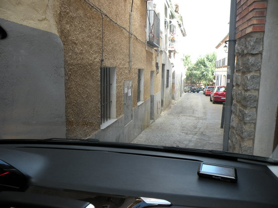 Hotel Real : Driving out of the hotel.  We had only 1 inch clearance on each side.  Would not do this again!