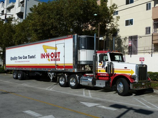 In N Out Truck Picture Of In N Out Burger West Hollywood