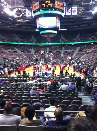 Palace of Auburn Hills: Pre-game from my seats!