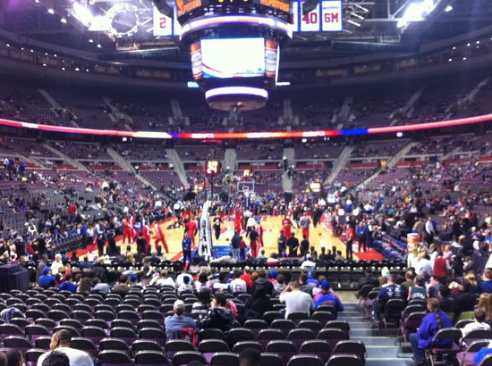 Palace of Auburn Hills: A wide view from my seat!