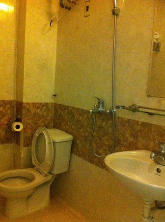 Mango Hotel: Not exciting of a bathroom (but good for the price).