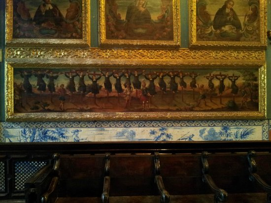 Capela Dourada: Curiosa pintura mostrando mártires japoneses