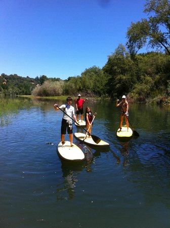 Rubicon Adventures: Family learns to SUP on the Russian River