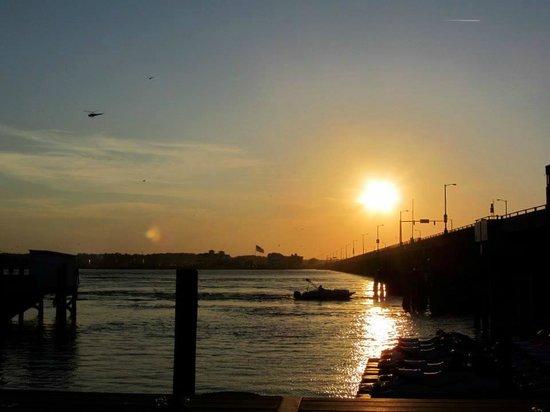 Captain Bill Bunting's Angler: June sunset from the Angler dock