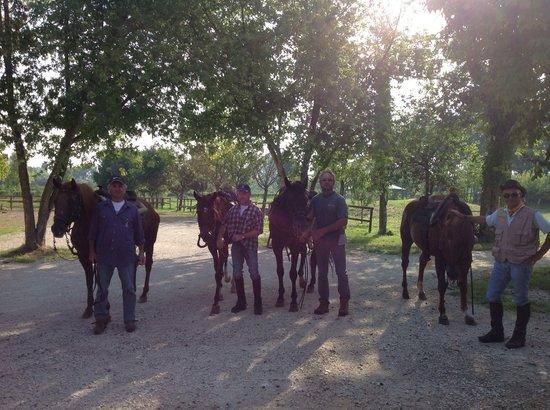 Agriturismo dal Moro : I nostri clienti a cavallo