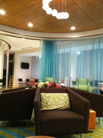 SpringHill Suites Ashburn Dulles North : Welcoming Lobby...Louge, Breakfast, Work Stations