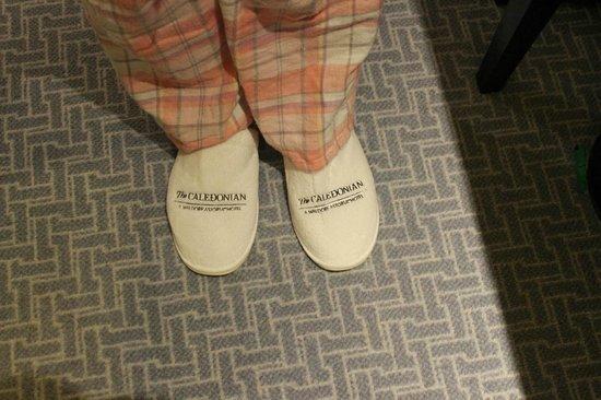 Waldorf Astoria Edinburgh - The Caledonian: Comfortable slippers