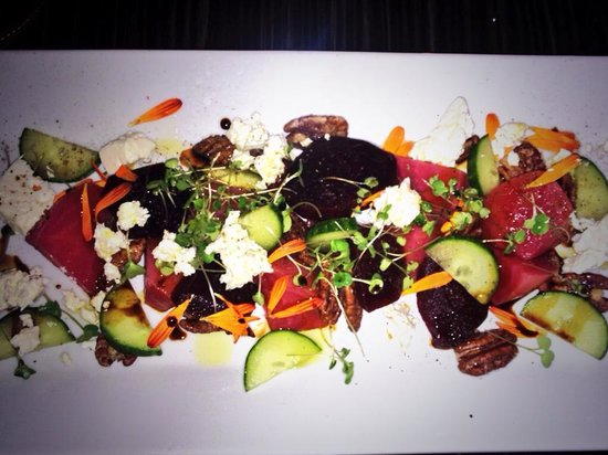 The Belworth House: Heirloom pickled beet salad/ feta cheese/ caramelized nuts/ local Riesling vinaigrette