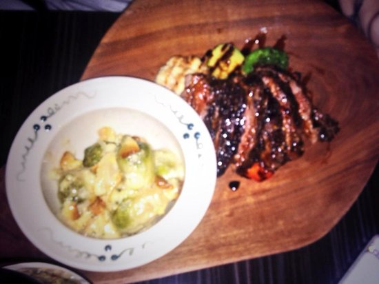 The Belworth House: My Friends delicious Steak and brussell sprout dinner