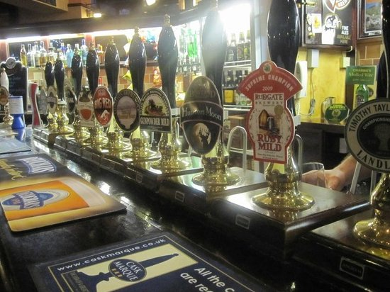 The White Cross: the real ales