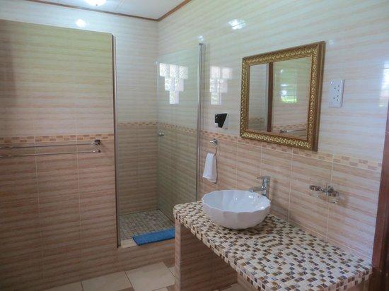 Etoile Labrine: Salle de bain avec grande douche!