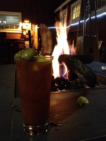 Railroad Station Bar and Grill: bacon bloody mary