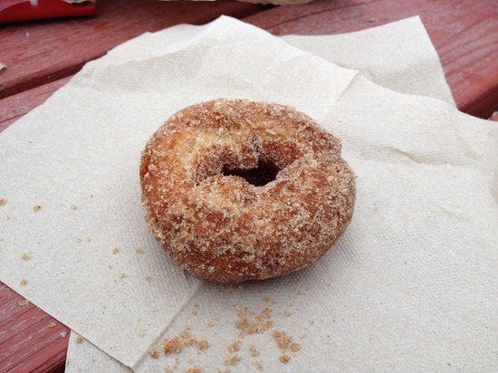 Willamette Valley: cider donut from Fir Point Farms Aurora OR