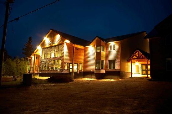 Pinewood Lodge at Night