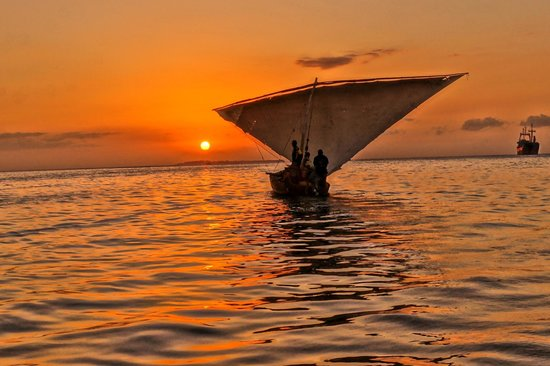 Stone Town, Tanzania: Sunset from a dhow
